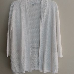 Notations Knit Open Front Cardigan Sweater